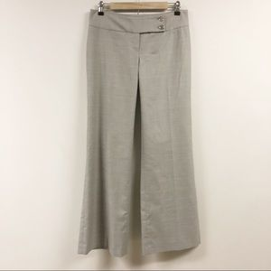 Michael Kors Wide Leg Gray Light Plaid Trousers
